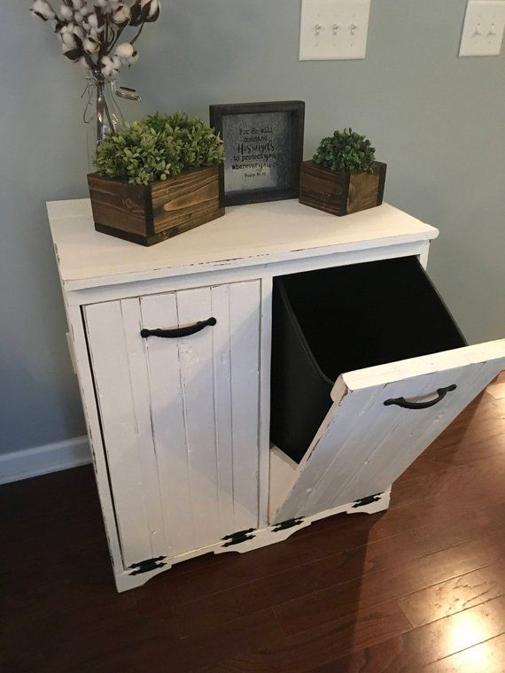 Double Tilt Out Trash Bin 2 Door Tilt Out Trash Bin Laundry Trash Can Cabinet Kitchen Trash Cans Diy Bathroom Design