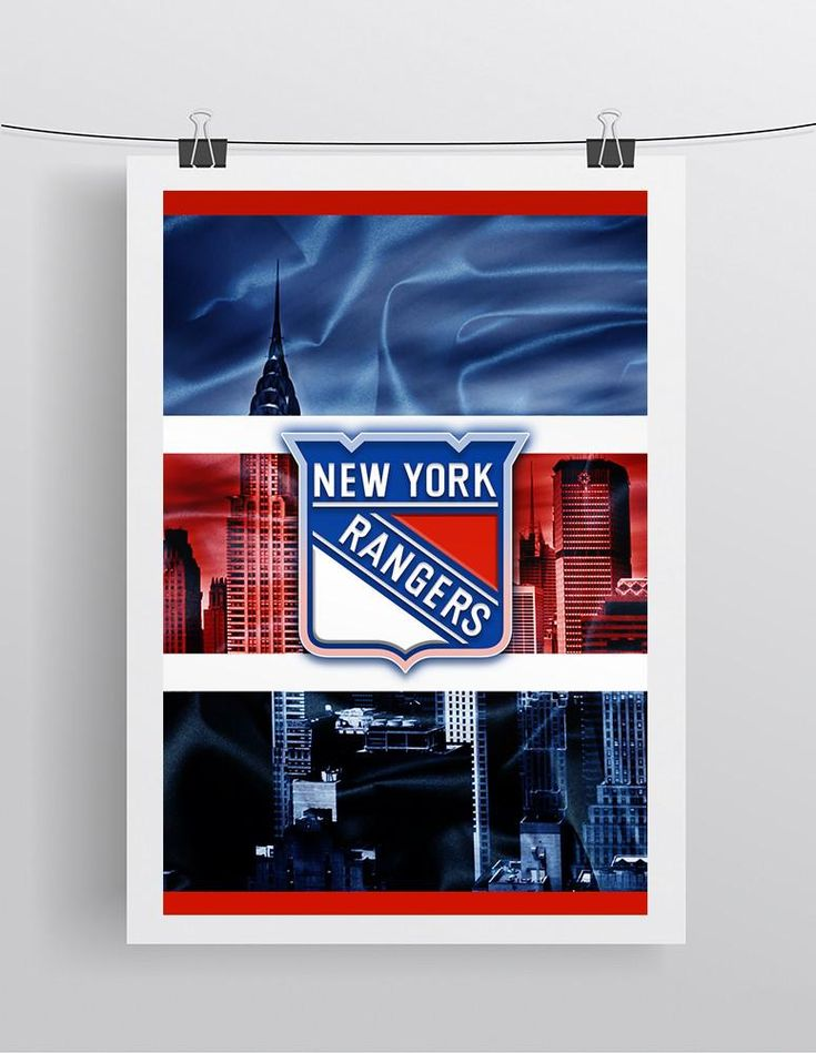 new york rangers hockey poster new york rangers print ny. Black Bedroom Furniture Sets. Home Design Ideas