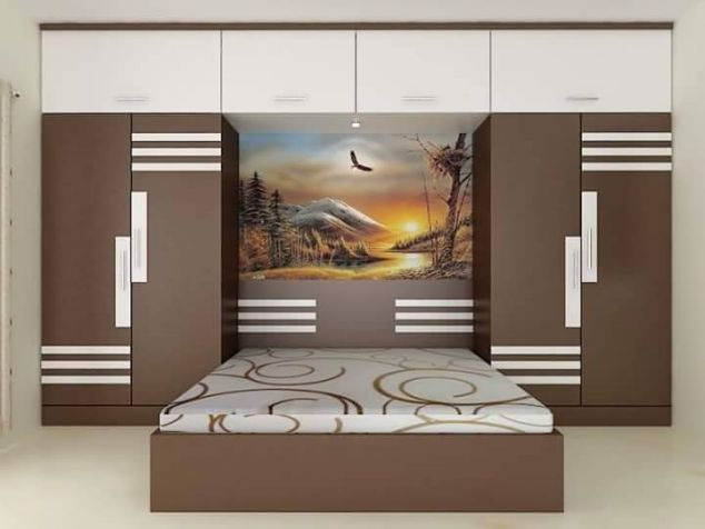 Latest Overbed Wardrobe Design Catalogue 2019 281 29 Jpg 634 476 Bedroom Furniture Design Bedroom Cupboard Designs Bedroom Bed Design