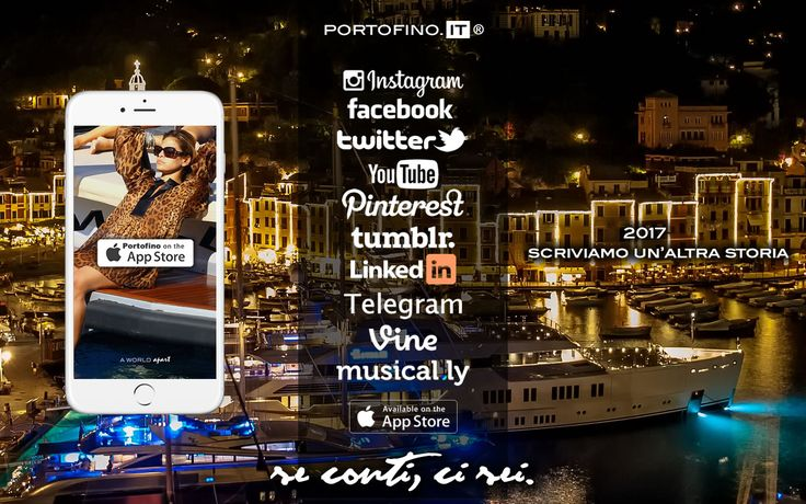 PORTOFINO NELL' APP STORE: SE CONTI, CI SEI. #portofino http://www.portofino.it