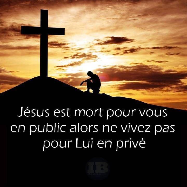 Citation Vivre pour Jésus en privé .