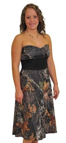 DixieLand Camo - Mossy Oak Ladies Strapless Dress, $169.97 (http://www.dixielandcamo.com/mossy-oak-ladies-strapless-dress/)