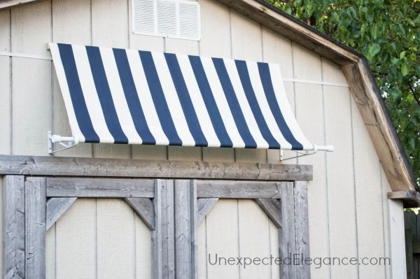 Diy Shed Awning Quick And Easy Diy Awning Outdoor Sheds Diy Shed