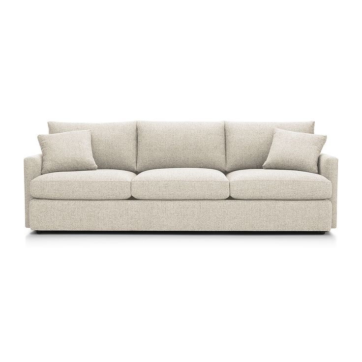 """There's a reason it's called Lounge. Now the relaxed experience of this extra-long sofa, part of our ultimate family room collection, is also available in a """"petite"""" version with a more shallow seat and super-soft back cushions for family and friends to sink in."""