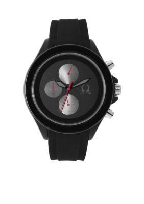 Legion Men's Men's Silver-Tone Black On Black Sporty Watch - Black - One Size