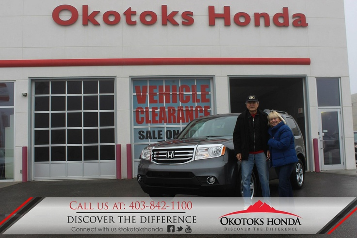 The Balon Family and their Honda Pilot - thanks to Kylian Pomares. Welcome to the OH Family! Call Okotoks Honda at 403.842.1100 for your vehicle and maintenance needs.
