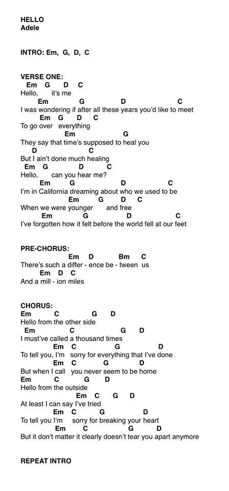 """Adele """"hello"""" ukulele chords pt 1"""