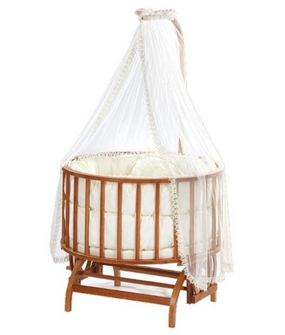 Baby Tech 152 Topkapı Ahşap Bebek Beşiği Naturel