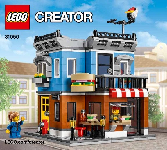 View LEGO instructions for Corner Deli set number 31050 to help you build these LEGO sets