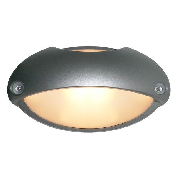Airy Eyelid bunker in Silver | Outdoor Lighting | Lighting