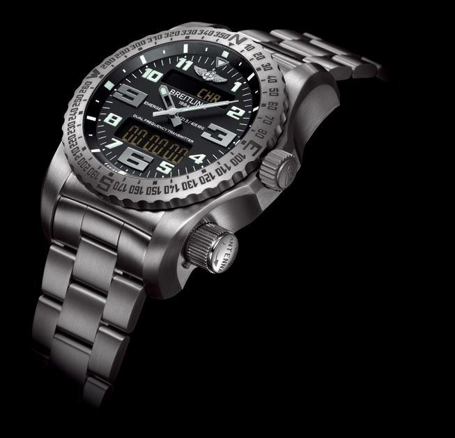 Breitling Emergency watch - The first wristwatch with a dual frequency locator beacon built in!