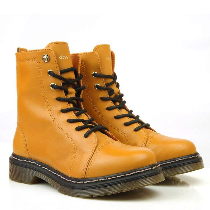 Black Boots - Coturno Cravo & Canela Amarelo 85605 - BlackBoots