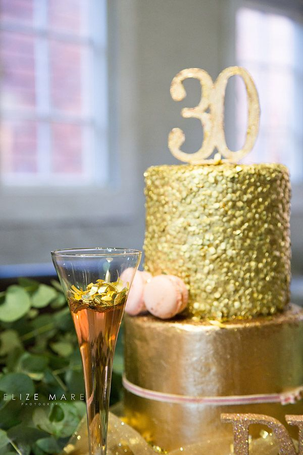 Leave a little sparkle....Le Petit Glitter Cake * Elize Mare Photography 30th Glitter Birthday