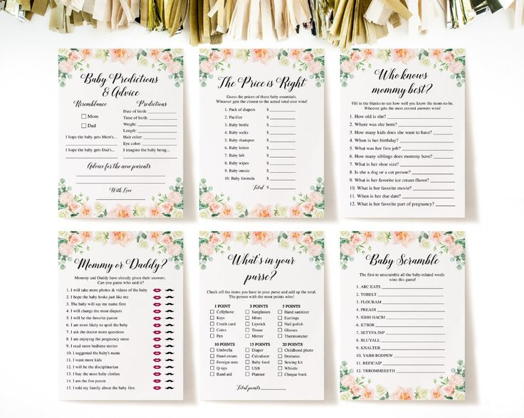 Editable Floral Baby Shower Games Floral Baby Shower Games Etsy Floral Baby Shower Baby Shower Games Floral Baby
