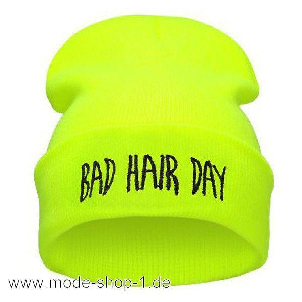 Bad Hair Day Damen Mütze in Neon Gelb