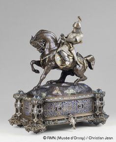 Antoine-Louis Barye (1795-1875) Guerrier tartare à cheval. 1855 Bronze patiné, partiellement émaillé et doré Paris, musée d'Orsay