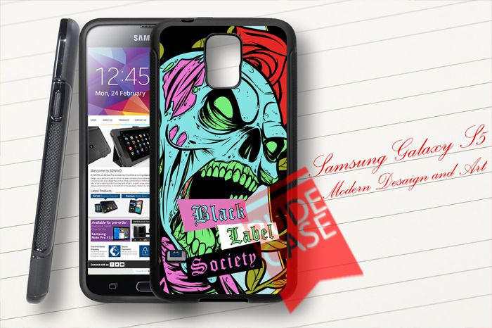 Samsung Galaxy S5 Custom Black Label Society Rubber Case
