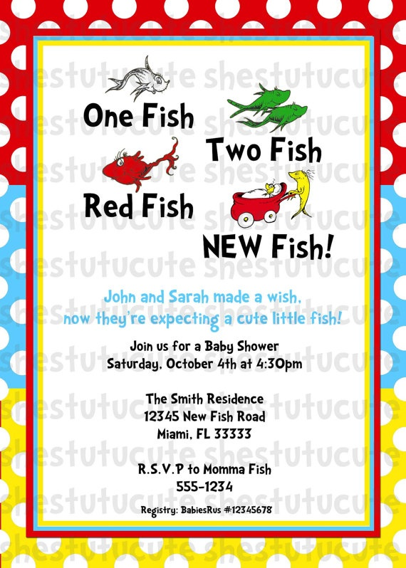 I have been seeing lots of Dr. Suess themed baby and kids items. Cute invite!