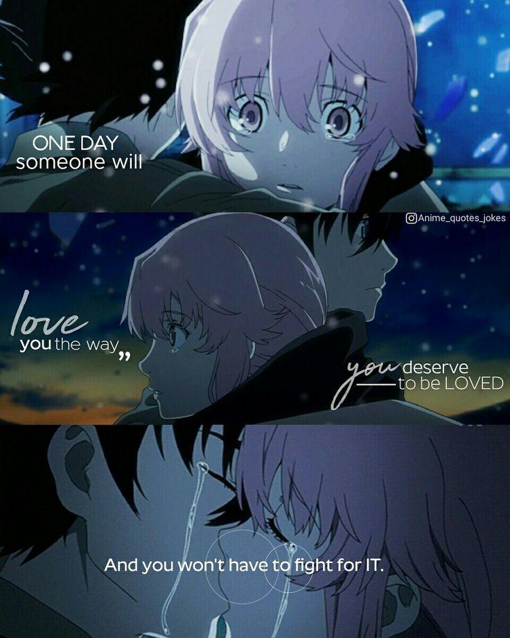 Mirai Nikki Quotes: Anime Mirai Nikki Gasai Yuno Animequotes Quotes