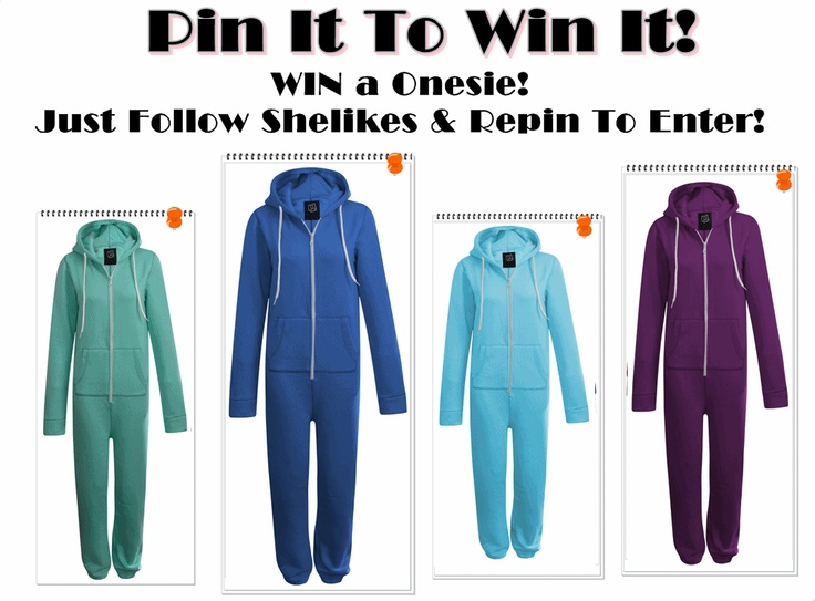 Follow Shelikes & Repin to WIN a Onesie in any colour!