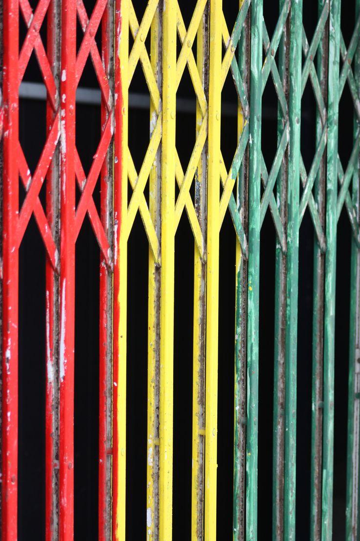 Colourful gate in Cape Verde
