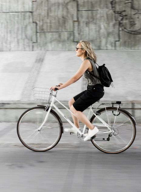 Commuting through False Creek, our latest Kit Gaby Bayona in the Walk the Line Short. | Kit and Ace