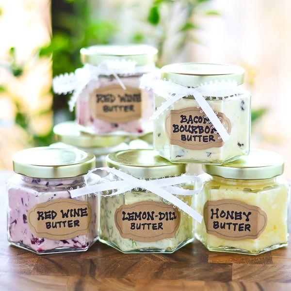 DIY Flavored Butters ~ Red Wine Butter, Lemon-Dill Butter, Honey Butter & Bacon Bourbon Butter