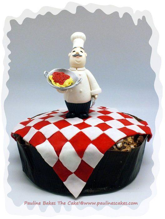 """Spaghetti Al Panettone"" An Italian Affair For My Dad's Birthday! - by paulinescakes @ CakesDecor.com - cake decorating website"