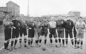 SC Freiburg of Germany team group in 1907.