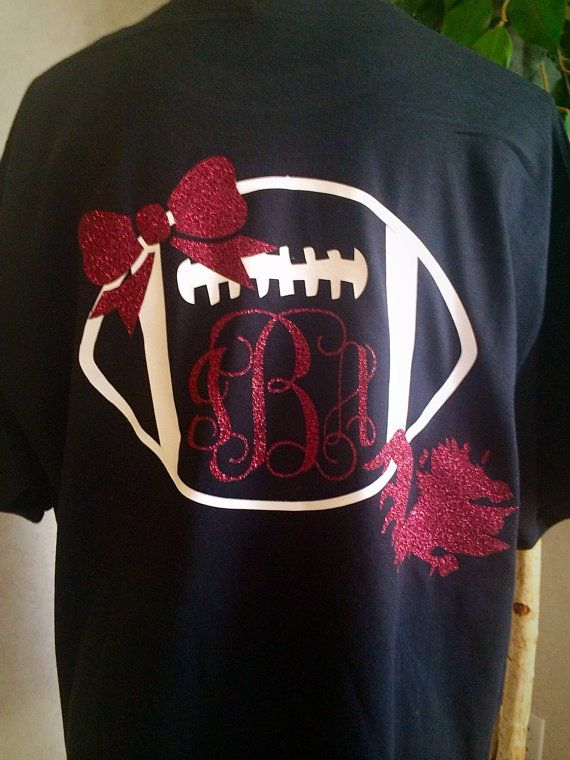 Carolina Gamecocks Football Monogram Shirt by CarolinaSilhouettes