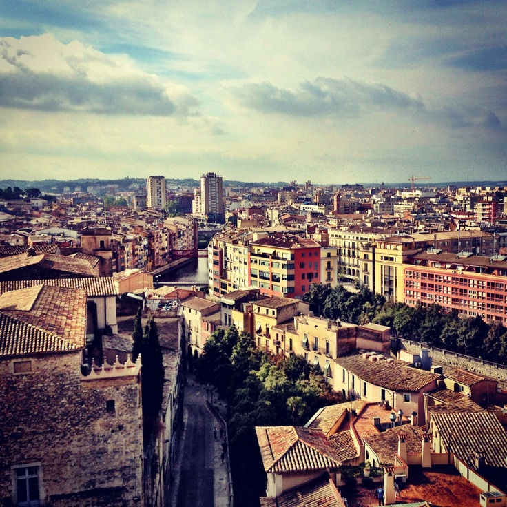 View of Girona from atop the Basilica Parroquial de Sant Feliu.: Two Centers, Atop, Travel Photos, Sant Feliu, Global Travel, Girona, Basilica Parroquial