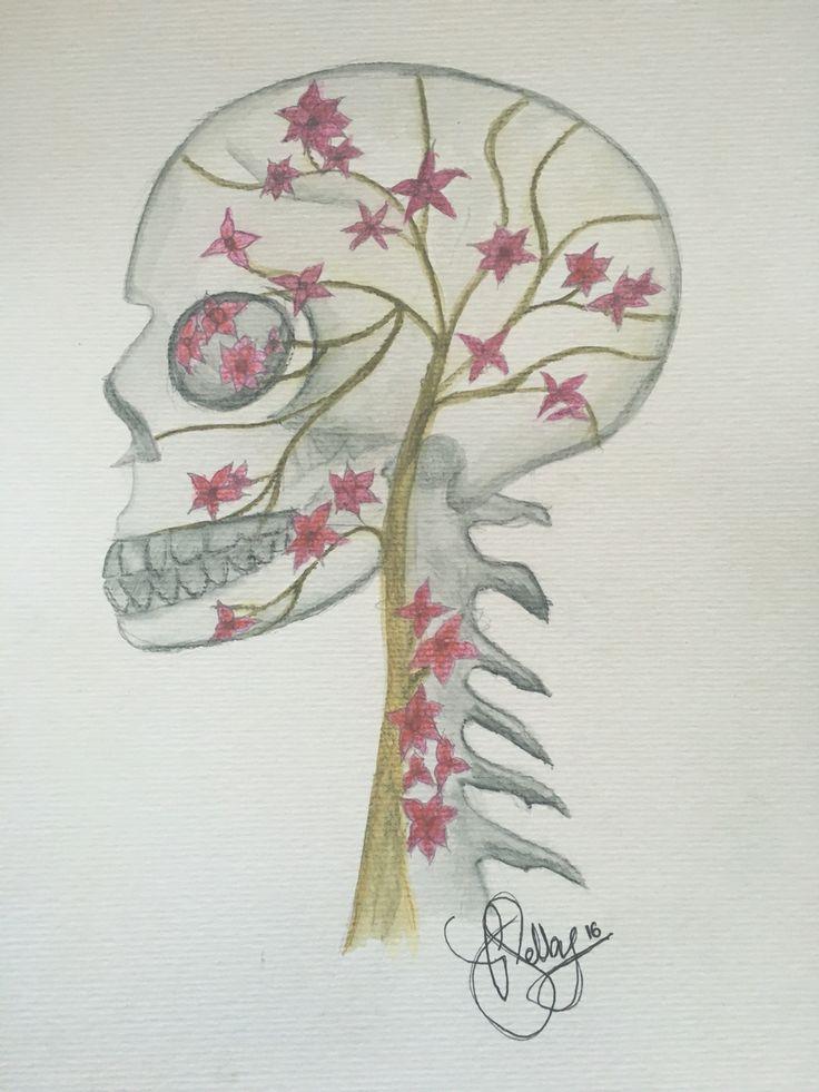 vines - Derwent inktense watercolour