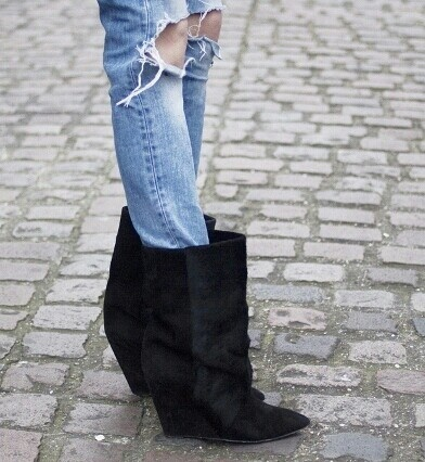 This is so me! If only I could afford Isabel Marant boots......only in my dreams.