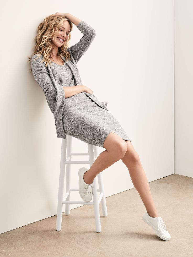 Looks we love: The Softspun knit tie-neck dress from Gap.