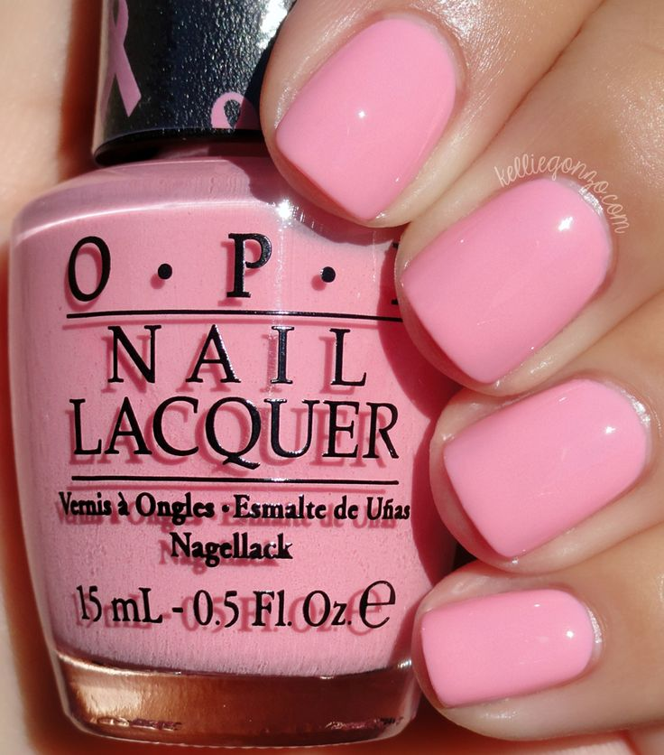 Soft pink perfect colour to mix with colours of spring. Opi nail polish gives a flawless finish !!