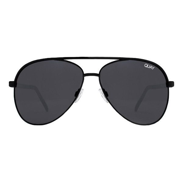 Quay Australia Quay Vivienne Sunglasses Black (57 CAD) ❤ liked on Polyvore featuring accessories, eyewear, sunglasses, black, quay eyewear and quay sunglasses