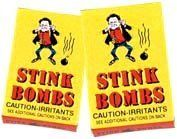 Stink Bombs - 3 per box by Novelties Wholesale. $2.85. Great prank. Fun for all. Great gag gift. Stink bombs. 3 vials in a box. Brake the vial and release the nastiest smell on earth!