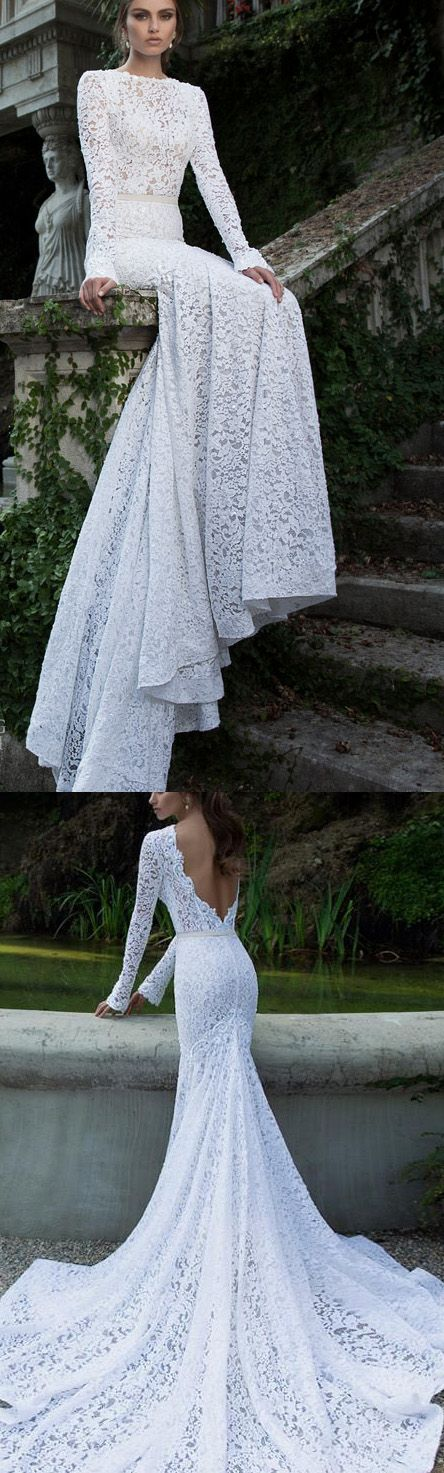 $189   Light White Long Prom Evening Dress With Backless Lace Tulle Sweep Train Dresses WF02G50-772... sold by Kelly Dress