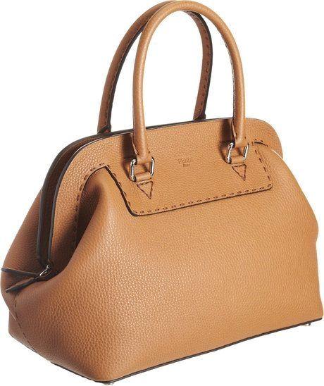 b1cc06ffa617 Fendi Large Selleria Doctor Bag in Beige (silver)