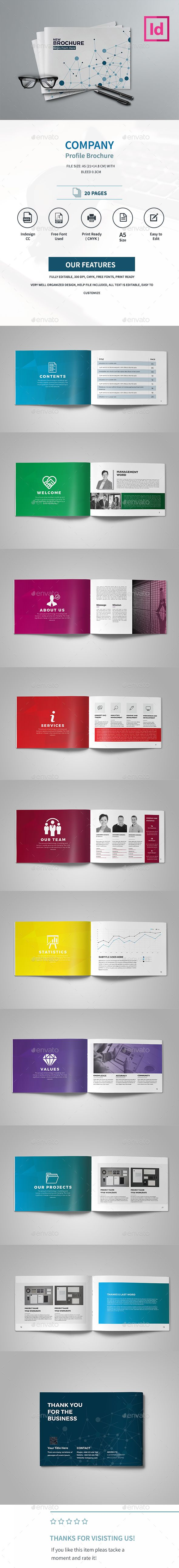 Company Profile Brochure Template InDesign INDD. Download here: https://graphicriver.net/item/company-profile-brochure/17391485?ref=ksioks