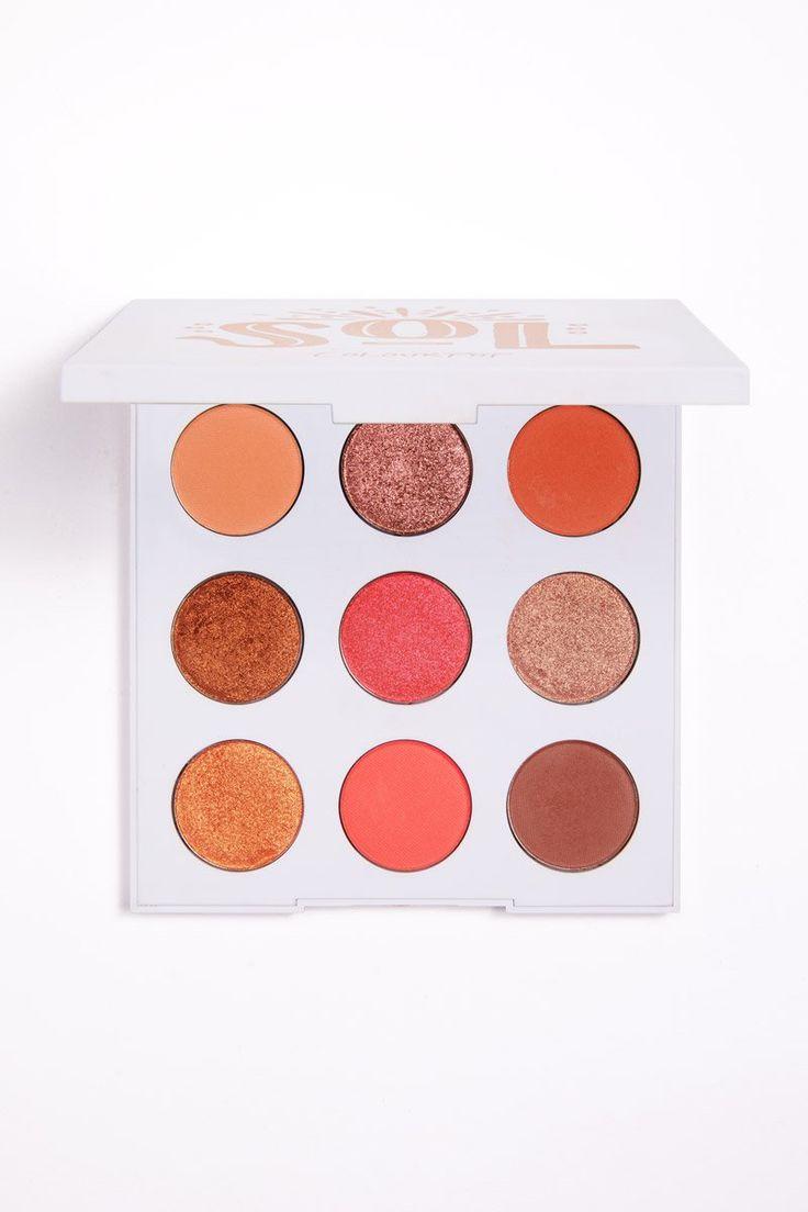 Colourpop Sol Hot Coral 9 Pan Pressed Powder Shadow Palette