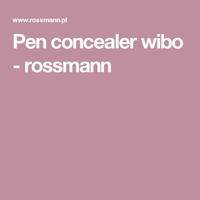Pen concealer wibo - rossmann