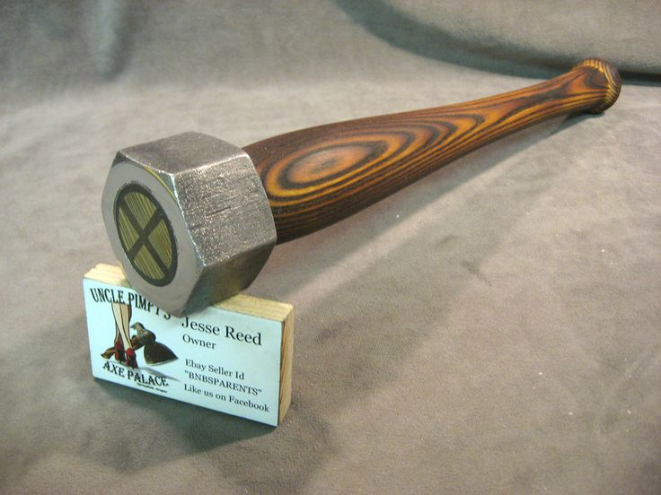 blacksmith Biker coconut fish hammer tool custom JESSE REED baseball bat handle in Collectibles, Tools, Hardware & Locks, Tools | eBay