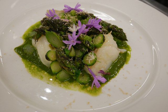 Recipe: Norwegian Cod, Wild Garlic Miso and Barbecued Asparagus | #OhMyCod