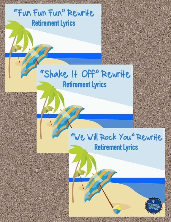Do you have a teacher or principal retirement celebration coming up? If you know a singer, use these lyrics to add some fun and excitement to the party!