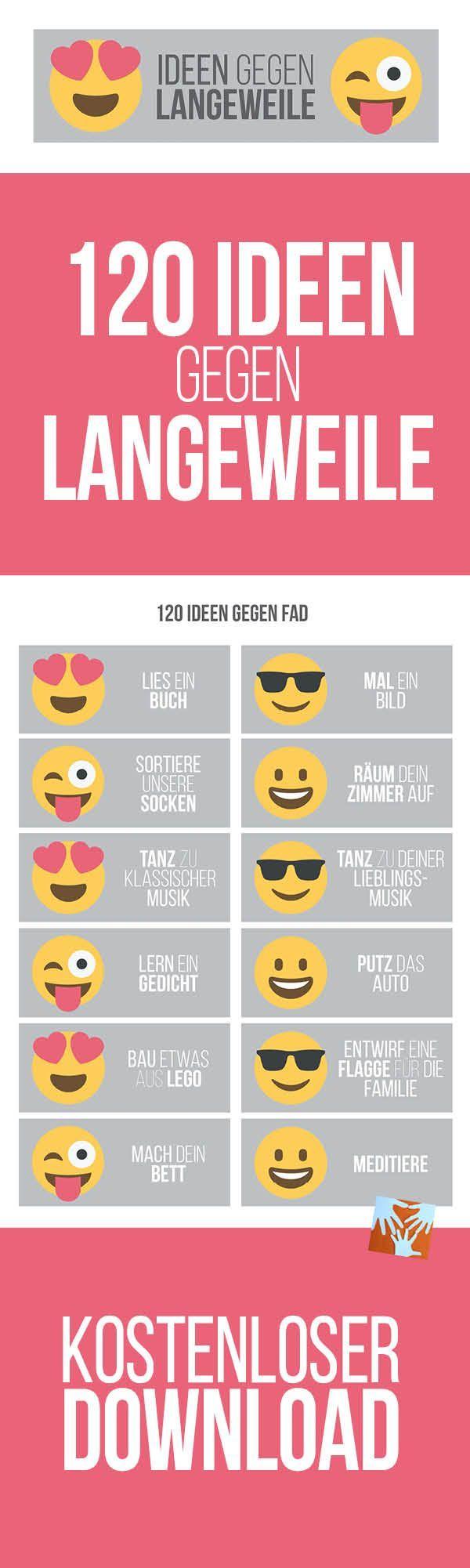 Must-have für Eltern: 120 Ideen gegen Langeweile   kostenloser Download   Erziehung, Alltag mit Kind