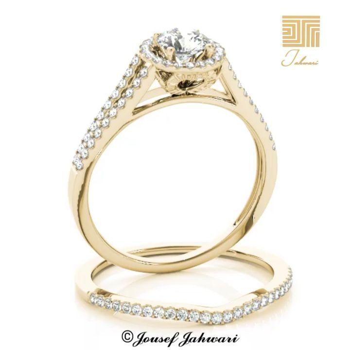 خاتم ماي لوف توينز الماس ذهب أصفر خاتم أو دبله خطوبه يمكن أن تختاره العروس لتظهر بريقها في يوم زفاف ها فلقد تم Engagement Rings Jewelry Engagement