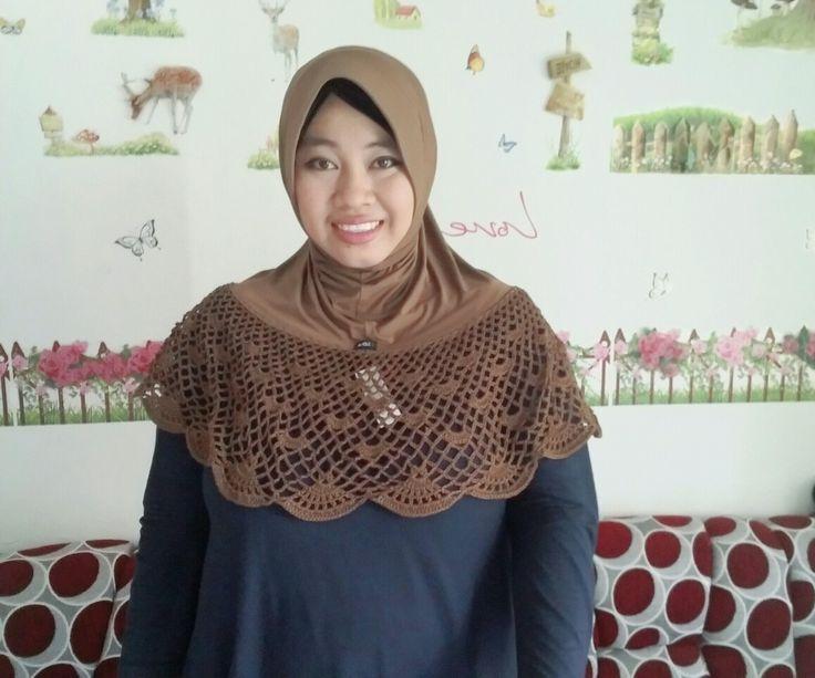 Moslem hijab crochet.. handmade
