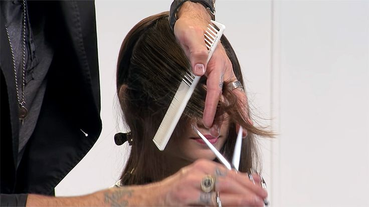 how to cut face framing layers in long hair