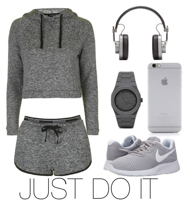"""Work work work"" by shevira on Polyvore featuring Topshop, NIKE, CC, Native Union and Master & Dynamic"